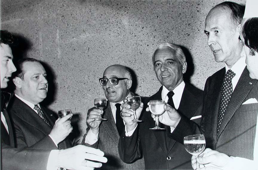 Bernard-Marie François, Raymond Barre et Valéry Giscard d'Estaing