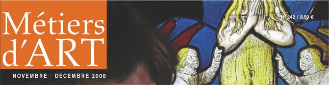 couverture Metiers d'art - novembre/decembre 2008 - SEMA - n°242