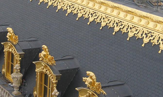 detail toit Versailles