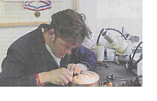Nicolas Salagnac, meilleur ouvrier de France en 2000 Photo Florence Fabre