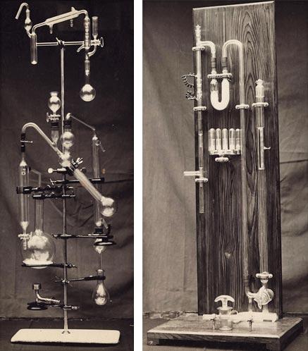 Panoplies de verrerie de Paul Pignat pour le IVe concours des Meilleurs Ouvriers de France en 1936