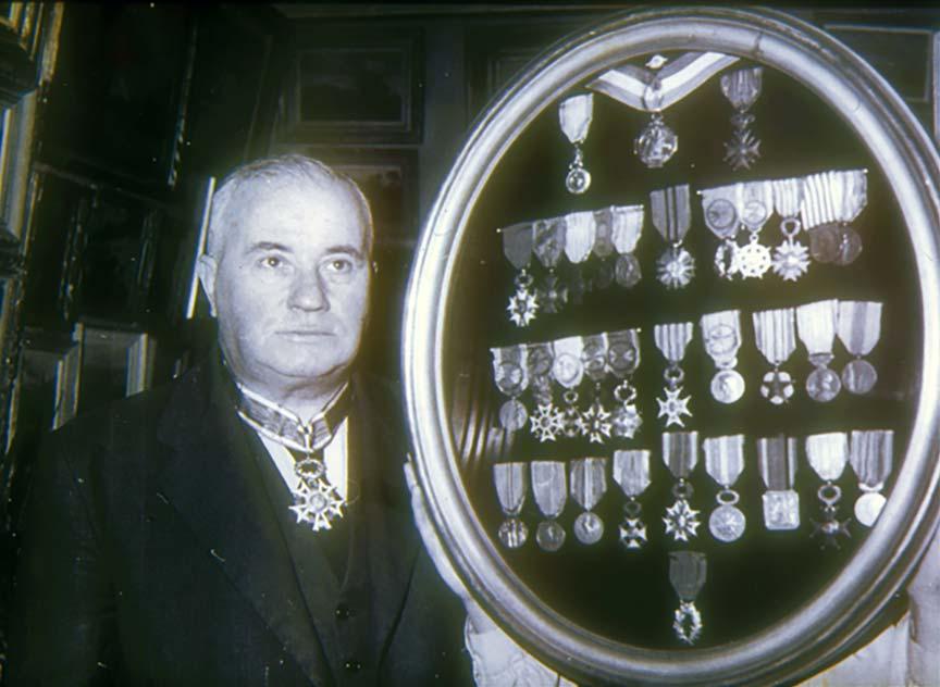 La collection de médailles de Paul Pignat