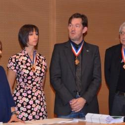 Marie Allègre, Sylvie Razzini, Nicolas Salagnac et Dominique Passinetti MOF.