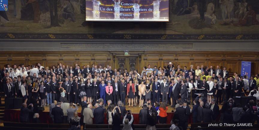 La promotion MOF 2015 à la Sorbonne.