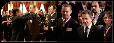 Remise médaille MOF par le Président Sarkozy