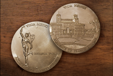 Médaille Villa Médicis - créée et réalisée par Nicolas Salagnac