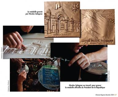 Monnaie magazine Nicolas Salagnac médaille Président de la République française
