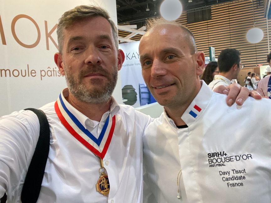 Davy Tissot, MOF 2004 et Bucuse d'or 2021 et Nicolas Salagnac MOF 2000
