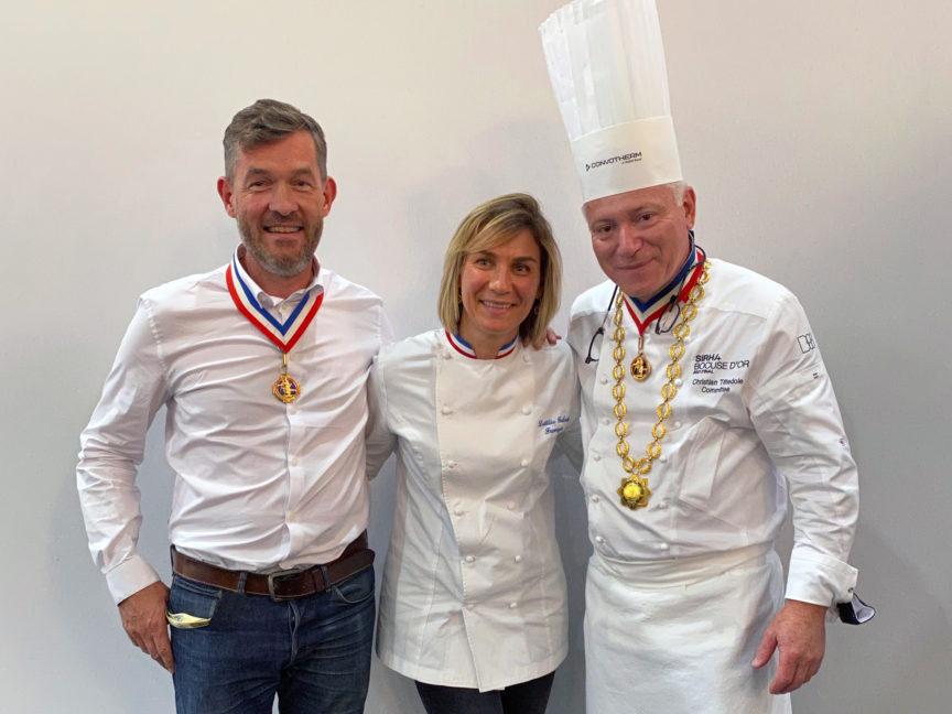Christian Têtedoie MOF cuisinier et Laetitia Gaborit MOF fromager